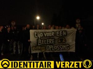 Mensen van de Bollenstreek en Leiden samen in actie tegen de instroom van economische immigranten.