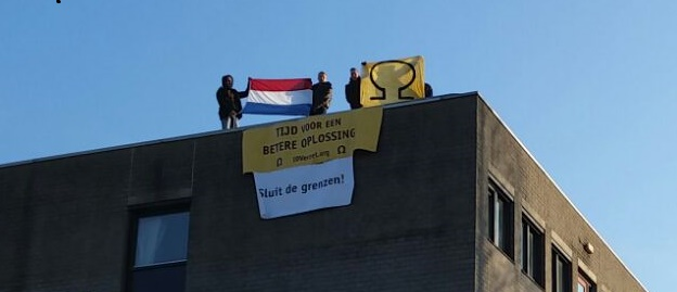 Activisten bezetten PWA-kazerne te Gouda